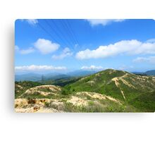Mountain landscape in Hong Kong Canvas Print