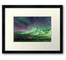 Green & Purple sky Framed Print