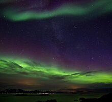 Auroras and Milky Way by Frank Olsen