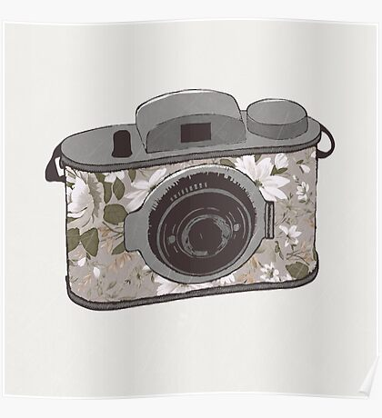 Floral Camera 1 Poster