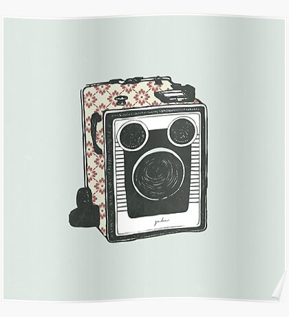 Floral Camera 2 Poster