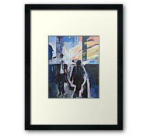 Old Man Walking. Framed Print