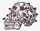 Skull and Roses by samclaire