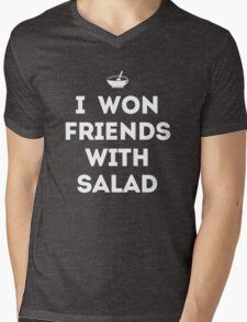 I Won Friends With Salad Mens V-Neck T-Shirt