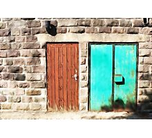 Doors abstract Photographic Print