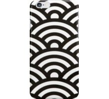 Black and white pattern iPhone Case/Skin