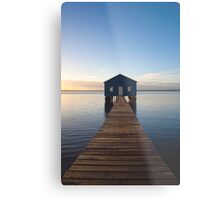 River Boatshed Metal Print
