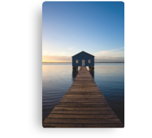River Boatshed Canvas Print