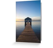 River Boatshed Greeting Card