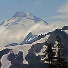 above the clouds beyond the ridge, mt baker, washington, usa by dedmanshootn