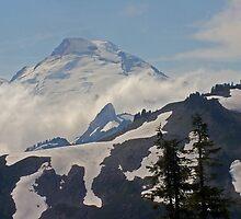 above the clouds beyond the ridge, mt baker, washington, usa by dedmanshootn