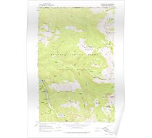 USGS Topo Map Washington State WA Ashnola Mtn 239865 1969 24000 Poster