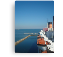 Queen Mary view from ship Canvas Print