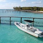 A boat in the sea in the bahamas by Sweetpea06