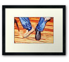 Odd shoe Lee Framed Print