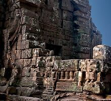 Angkor Thom Balcony by phil decocco