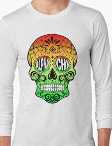 Alpha Chi Sugar Skull Long Sleeve T-Shirt