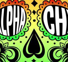 Alpha Chi Sugar Skull Sticker