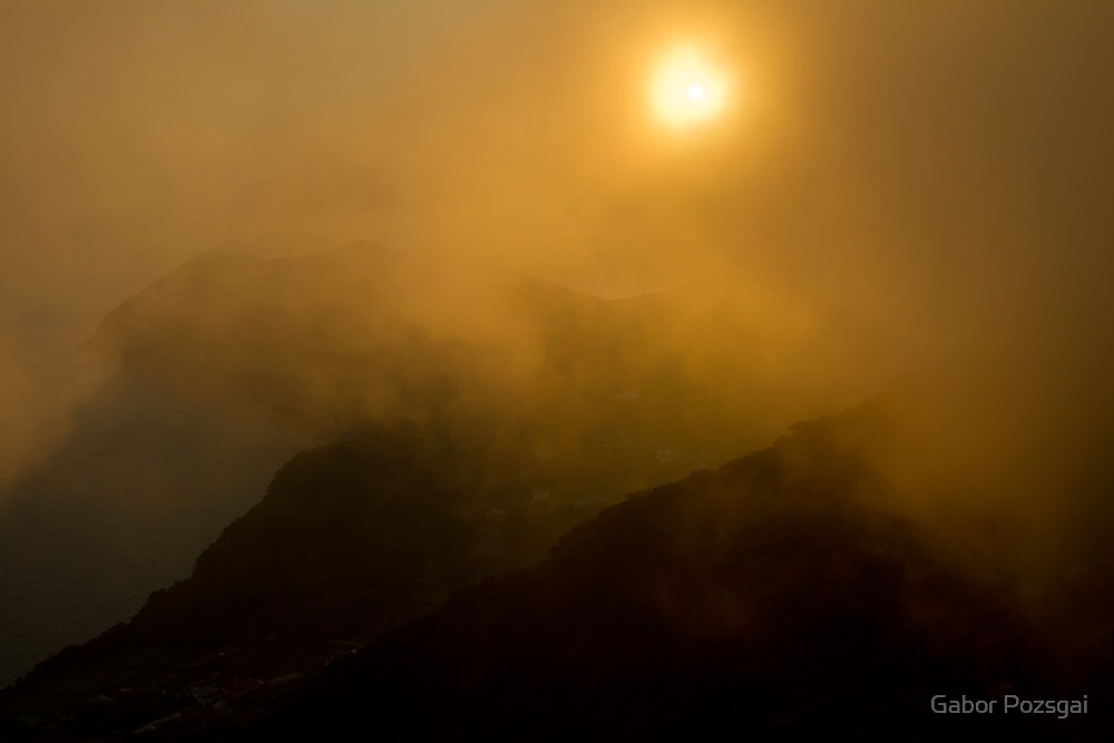 Misty Hongpo sunset, South Korea by Gabor Pozsgai