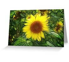 Sunflowers abstract Greeting Card