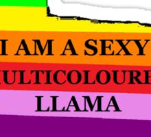 Sexy Multicoloured Llama Sticker