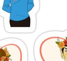Set of Spock, Jim Kirk, and Bones valentines Sticker