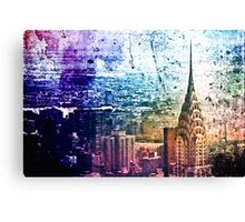 Chrysler Building - Paint Splotches - New York City -  Canvas Print