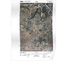 USGS Topo Map Washington State WA Airway Heights 20110401 TM Poster