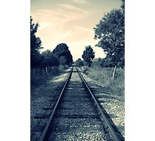 The train line Photographic Print