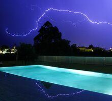 Lightning in Majorca by Mike Garner