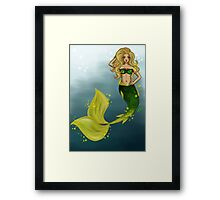 Golden Mermaid Framed Print