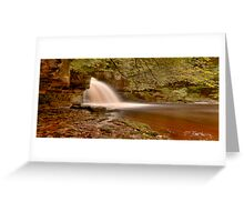 West Burton Falls (HDR) Greeting Card