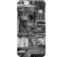 Slate Houses in the Lake District B&W iPhone Case/Skin
