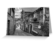 Slate Houses in the Lake District B&W Greeting Card