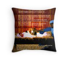How Tabby Cats Got Their 'M' Throw Pillow