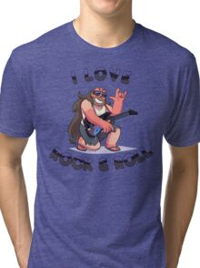"Greg Universe - Steven Universe ""I LOVE ROCK & ROLL"" Tri-blend T-Shirt"