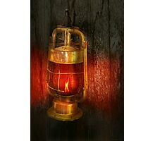 Steampunk - Red light district Photographic Print