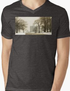 Winter View Of Detroit From Belle Isle Mens V-Neck T-Shirt