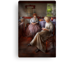 Sewing - I can watch her sew for hours Canvas Print