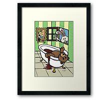 Teddy Bear And Bunny - The Discovery Framed Print
