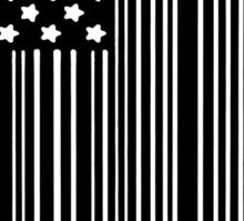 BLACK AMERICAN FLAG Sticker
