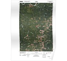 USGS Topo Map Washington State WA Macafee Hill 20110418 TM Poster