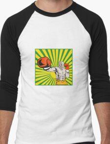 Boxer Boxing Jabbing Front Men's Baseball ¾ T-Shirt