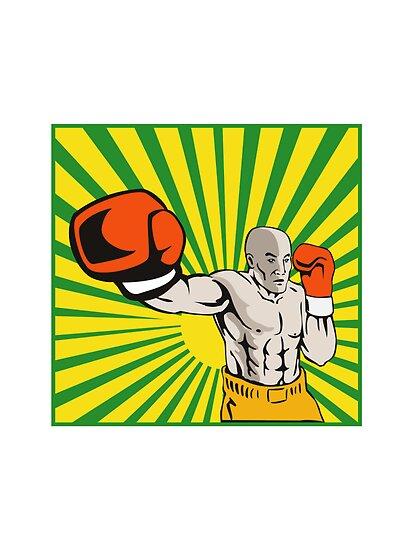 Boxer Boxing Jabbing Front by patrimonio