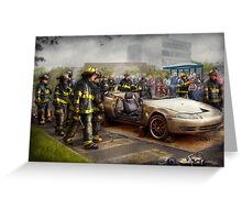Firemen - The fire demonstration Greeting Card
