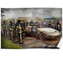 Firemen - The fire demonstration Poster