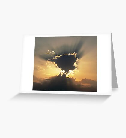 Sun streaks Greeting Card