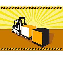 Forklift Truck Materials Handling Retro Photographic Print