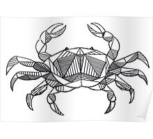 Geometric Cancer Crab Poster