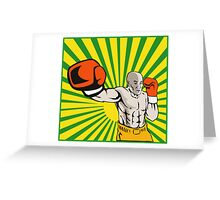 Boxer Boxing Jabbing Front Greeting Card